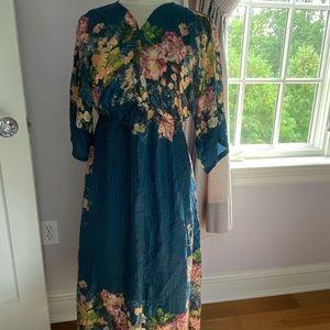 JOHNNY WAS Silk Kimono dress